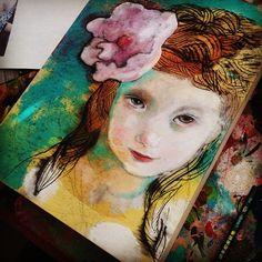 #paintinginprogress #mariapacewynters #mixedmedia #art #monday #artist
