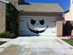 Nightmare Before Christmas Garage Door!