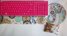 Matching Keyboard and / or WRIST REST for MousePads   by Laa766  chic / cute / preppy / computer, desk accessories / cubical, office, home decor / co-worker, student gift / patterned design / match with coasters, wrist rests