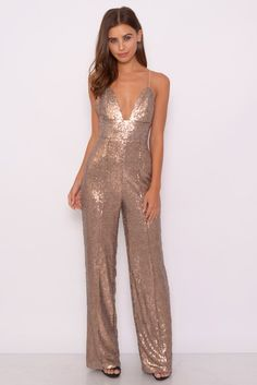Image for Gold Sequin Jumpsuit