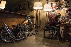 Harley Davidson Panhead 1958 Wood Lamps by Estevão Toledo
