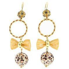 Betsy Johnson Leopard Pearl Earrings!