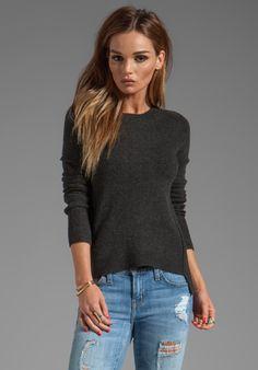 Inhabit Cashmere Crewneck Sweater in Charcoal