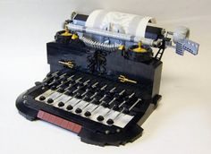 """Lego artist Matt Armstrong aka """"Monsterbrick,"""" does some truly amazing things with legos, especially with his """"Steampunk Lego Inventions,"""" series. This Lego creation is of an old school typewriter.  Photo Source: Flickr"""