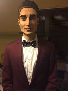 Pop art halloween makeup for men, graphic makeup, cartoon makeup