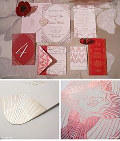 Luxury Wedding Invitations by Ceci New York - Our Muse - Ardent, Red-Inspired Wedding in St. Louis - Be inspired by Nicole & Dan's romantically red wedding at the Four Seasons in St. Louis, Missouri - ceci new york, wedding invitations, custom wedding invitations, red wedding, red-inspired wedding, red foil, gold foil, red letterpress, letterpress invitations, champagne, deco, custom monogram