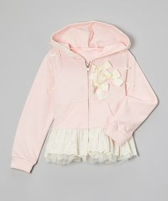 Pink Bow Skirted Hoodie - Infant by Just Fab Girls #zulily #zulilyfinds