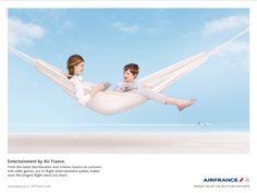 Un des visuels de la nouvelle campagne de publicité d'Air France / BETC Euro RSCG