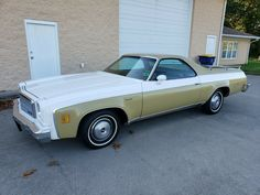 This 1974 Chevrolet El Camino Classic is a tidy survivor with a healthy 350ci V8 under the hood and 22,000 original miles showing on its odometer. #Chevrolet, #ElCaminoClassic