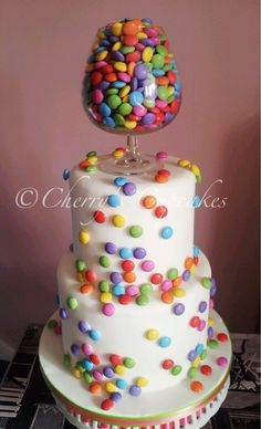 "Candy Wedding Cake that makes you want to say, ""MMMM!"""