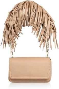 Christian Louboutin: artemis fringed leather shoulder bag