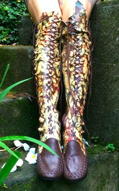 Dark Brown Galaxy Tie Dye Knee High Leather Boots - tie dye awesomeness!!!
