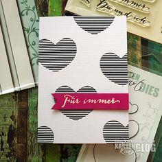 Karten-Kunst » Gestreifte Herzen