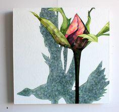 Marjut Siro, Talvilintu 2015, akryyli kankaalle 60 cm x 60 cm Rose Buds, Paintings, Art, Art Background, Paint, Painting Art, Kunst, Performing Arts, Painting