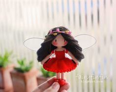 FairyFinFin: Cute Crochet Butterfly fairy Girl doll, Cute Gift,...