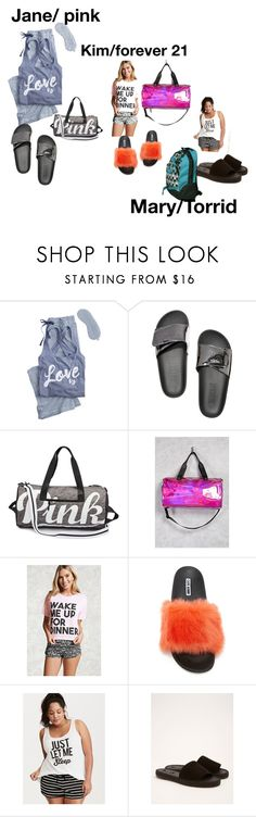 """Sleep 😴 over"" by janysha2369 ❤ liked on Polyvore featuring Victoria's Secret, Victoria's Secret PINK, Forever 21, Torrid and Vans"