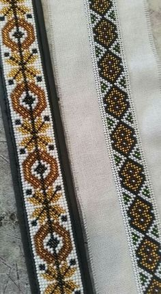 Loom Beading, Floral Tie, Diy And Crafts, Cross Stitch, Beads, Crochet, Design, Beaded Embroidery, Punto De Cruz