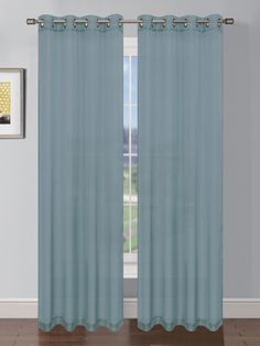 Thomas Faux Linen Grommet Extra Wide Curtain Panel Pair