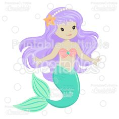 Cute Mermaid SVG Cut Files & Clipart - Cuttable SVG Files for your Silhouette or Cricut cutting machines! Limited Commercial Use included! #scrapbooking #cardmaking #papercraft #vinylideas #vinylcrafts #cutfiles #cutfilessvg #cuttingfiles #svgfiles #scrapbookcutting #partyprintables #beachlife #silhouettefiles #cricutfiles #mermaidclipart #littlemermaid #mermaidtheme #mermaidparty