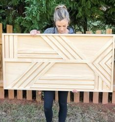 Wall art diy easy how to make Ideas Panel Wall Art, Diy Wall Art, Wood Wall Art, Scrap Wood Art, Wood Walls, Mur Diy, Garden Wall Art, Creation Deco, How To Make Diy