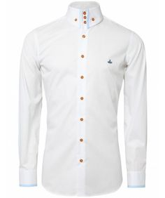 MEN'S VIVIENNE WESTWOOD THREE BUTTON COLLAR TRIM SHIRT