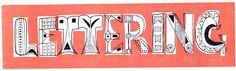 Imre Reiner's free form lettering #typography via @markosborne14