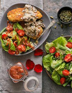 Valentine& Day Recipe: Almond and Thyme-Crusted Chicken Cranberry Vinaigrette, Crusted Chicken, Salmon Burgers, Vegan Gluten Free, Avocado Toast, Pesto, Broccoli, Healthy Lifestyle, Almond