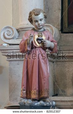 stock photo : Infant Jesus of Prague, sacred Heart    This is sweet.