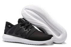d2720cf74666 Unisex Adidas Tubular Viral Black White Trainers