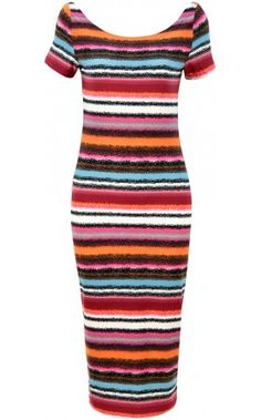 Orange & Pink & Blue Dotted Striped Design Stripe Dress  Fitted sleeveless dress featuring a rounded neckline. 104 cm.  http://www.pussycatlondon.com/latest-fashion-clothing-1/orange-pink-blue-dotted-striped-design-stripe-dress.html?color=Pink=8