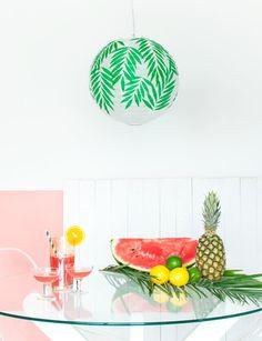 DIY: Personalizar una lámpara de arroz | Decorar tu casa es facilisimo.com