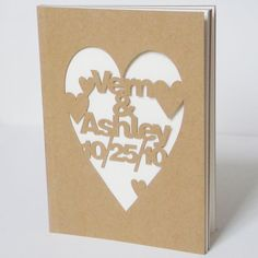 Personalised Cut Notebook, Cameo Silhouette project