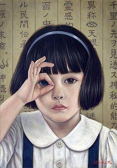 Japanese painting  CLAIRVOYANT,   Shiori Matsumoto 2010