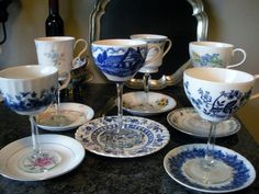 Teacup Wine Glasses | 15 Ways To Repurpose A Vintage Teacup