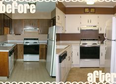 Kitchen flooring makeovers before and after