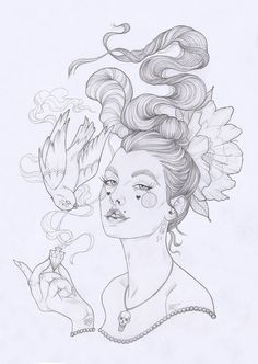 'Poison II' original drawing now available on Etsy along with a...