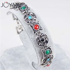 Turkey Jewelry Retro Bohemian Bracelet Women Love Crystal Bracelets Female Ethnic Tibetan Silver Wristband Gifts #Affiliate