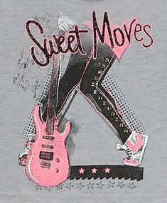 Girls Tees, Shirts For Girls, Girls Fashion Clothes, Kids Fashion, Kids Graphics, Pop Rock, Rock Tees, Shirt Print Design, Artwork Prints