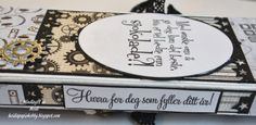 sjokoladekort Star Designs, Gift Bags, Dog Tags, Dog Tag Necklace, Stamps, Boxes, Scrapbook, Cards, Jewelry