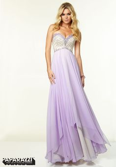 Prom Dresses / Gowns Style 97049: Chiffon with Beading http://www.morilee.com/prom/paparazzi/97049