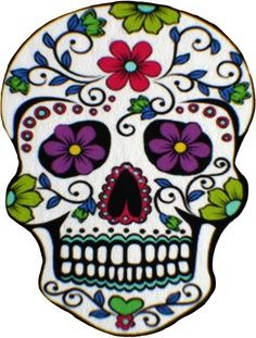 After travelling to Central America in 2002 and 2006 I fell in love with Central American folk art, more specifically Mexican folk ar. Sugar Skull Halloween, Halloween Makeup, Halloween Costumes, Mexican Skulls, Mexican Folk Art, Sugar Skull Artwork, Sugar Skull Painting, Dot Painting, Candy Skulls