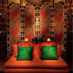 Coral + green | Tony Duquette's Dawnridge