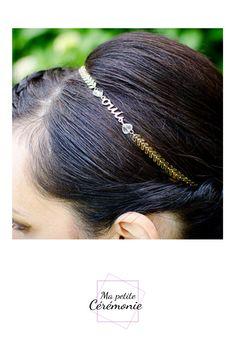 Or fil enroulement avec Peigne Cerceau Femmes Serre-Tête Cheveux Bandeau Accessoires