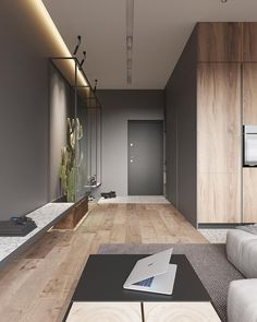 Swipe Left and Enjoy this warm and stylish apartment 😍 📌 Tag a friend to share! __ Apartment for a Bachelor designed… Loft Interior, Interior Design Photos, Apartment Interior Design, Home Office Design, Living Room Interior, Modern Interior, Interior Architecture, Interior Decorating, Architecture Courtyard