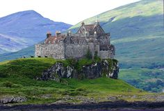 Duart Castle on the Isle of Mull off the west coast of Scotland is the ancestral home of the Clan Maclean