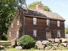 Casa natal de John Adams en Massachusetts. EEUU.