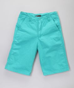 Love this Mint Flat-Front Shorts - Boys by Galaxy by Harvic on #zulily! #zulilyfinds