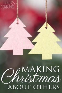 """Have you found your family getting caught up in the hustle and bustle of a """"commercial"""" Christmas? Cure the gimmies and create memories that will last a lifetime this year by making Christmas about others. I'm sharing a tool to help you do it!"""