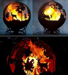 Fabulous Fire Pit Globes Adding Unique Yard Decorations to Backyard Designs