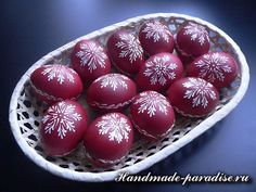 Ideas and Decor Eastern Eggs, Egg Art, Easter Dinner, Egg Decorating, Folklore, Wax, Christmas Decorations, Homemade, Fruit